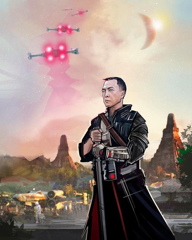 I am with the force and the force is with me Blind Faith:: Chirrut Imwe on Yavin IV a beautiful piece by @venamis
