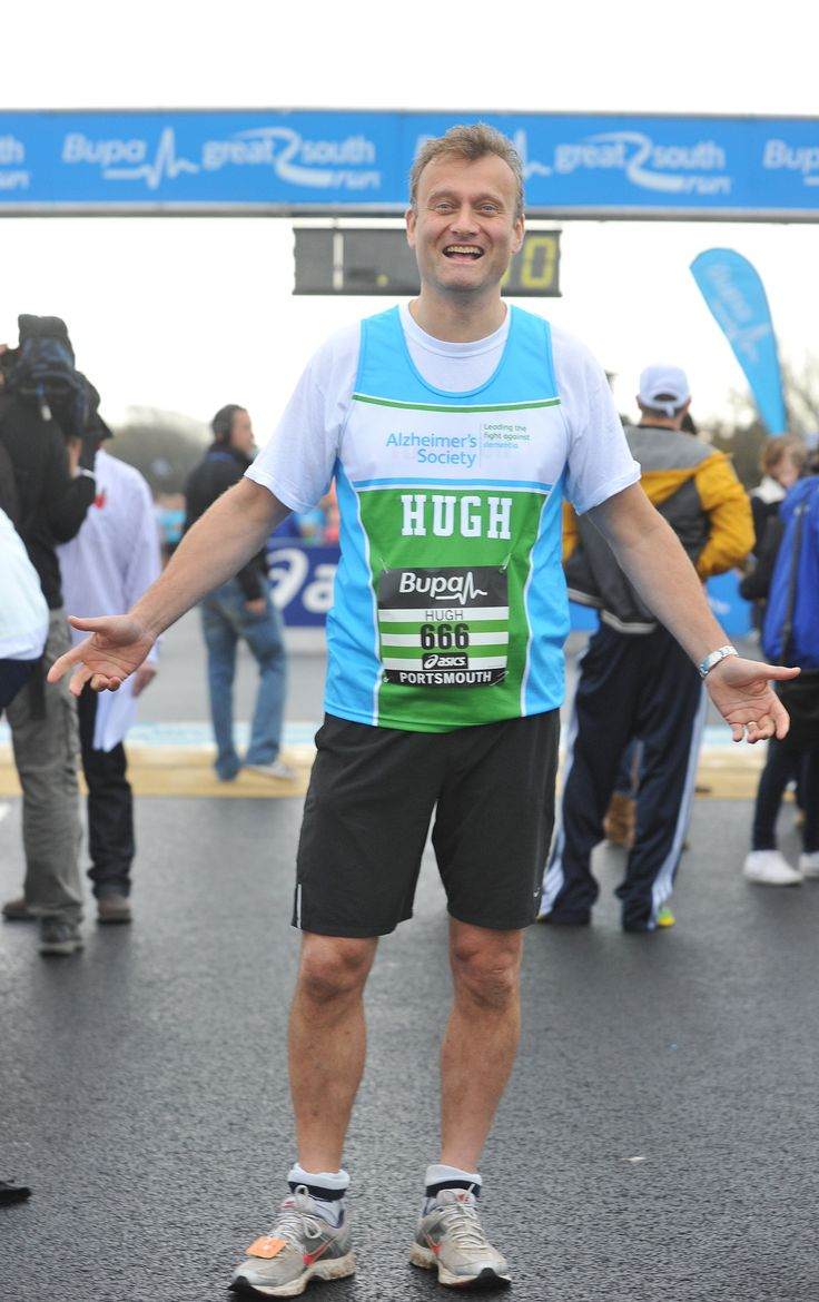 Star of #outnumbered and #mocktheweek Hugh Dennis loves to run!