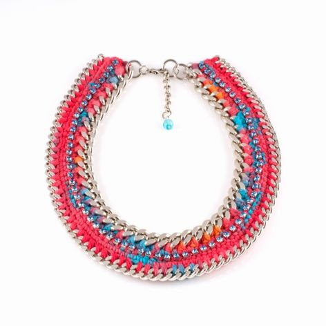 Spring Blossom Necklace by Lamprini. The perfect statement piece, in neon colors!