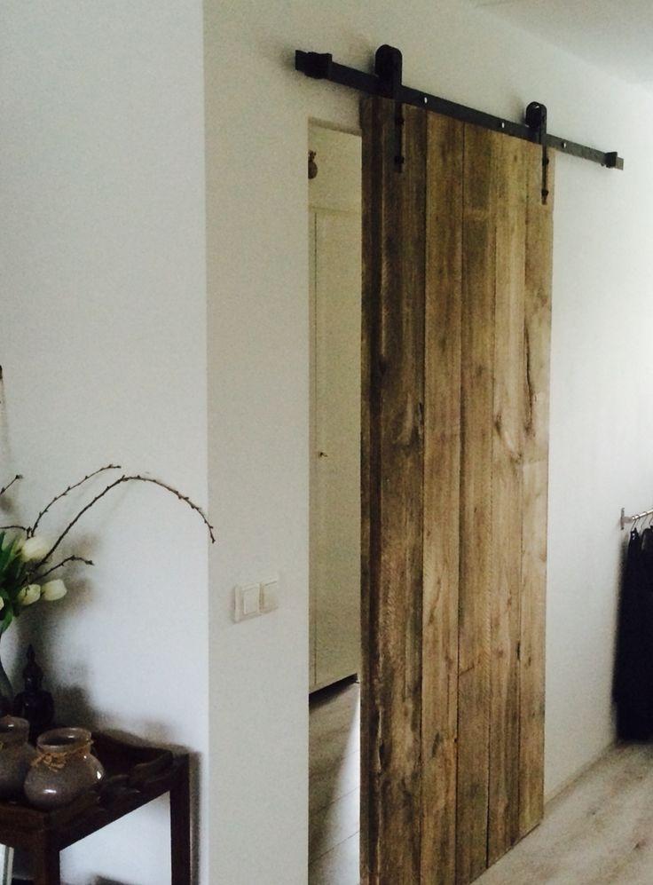 Oude planken schuifdeur houten planken for Ikea sliding barn doors