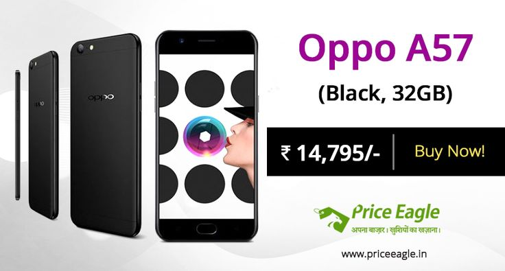 13MP primary with a 16MP selfie shooter powered by Snapdragon 435 with dual 4G support and a Finger print sensor! #Oppo A57 is now on sale with 12% discount:https://goo.gl/WH9gD6