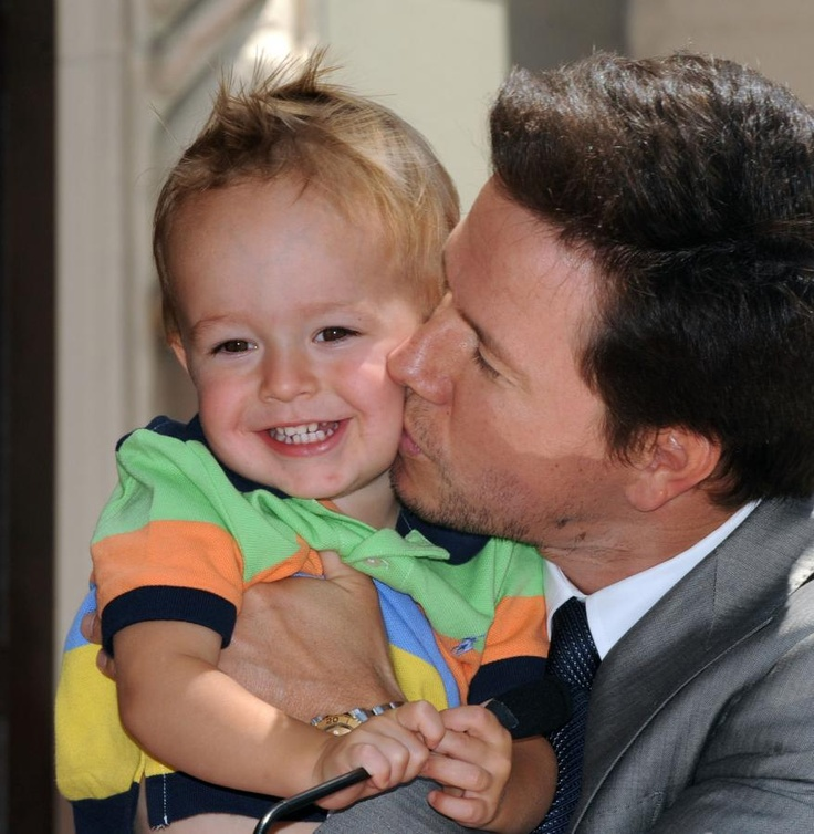 Mark Wahlberg and his son.