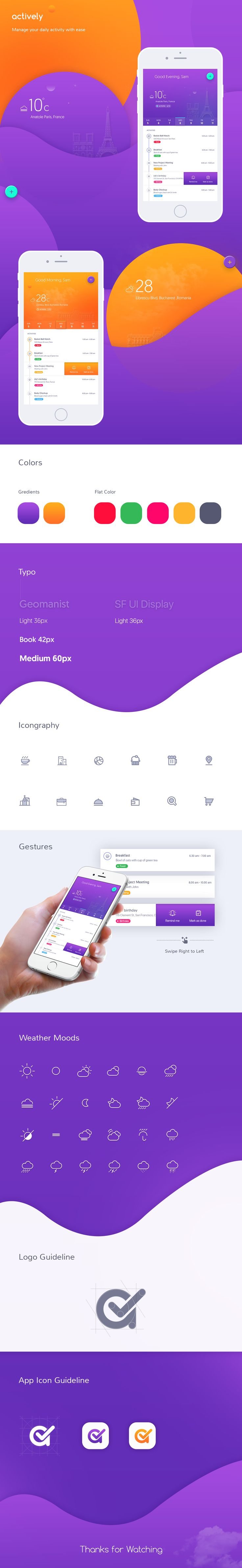 Hello Fellows, Hope all are doing great stuff in 2017. Here are some Detail iteration of Actively iOS Application which we are working on. Find US Dribbble and Behance New Project to Discuss ? L...
