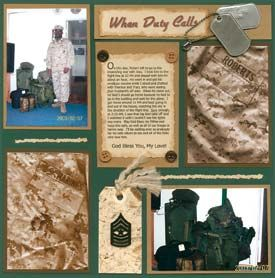 military scrapbook ideas - Google Search