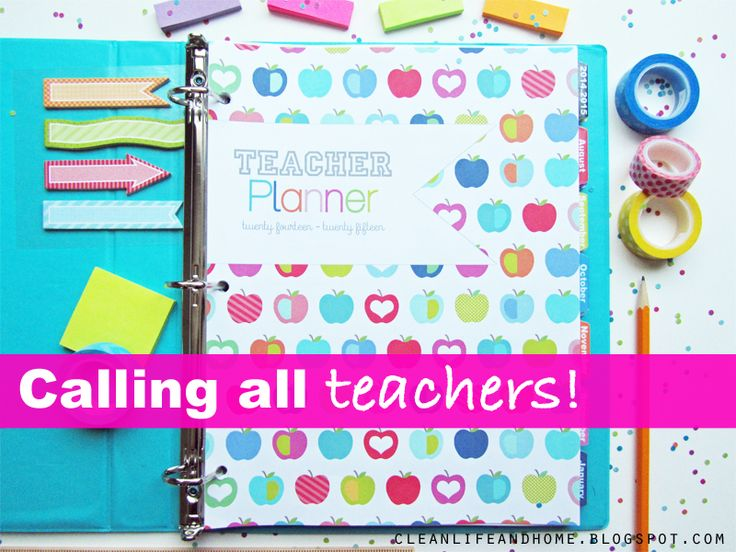 Clean Life and Home: NEW The Teacher Planner! (2016-2017 coming soon!)