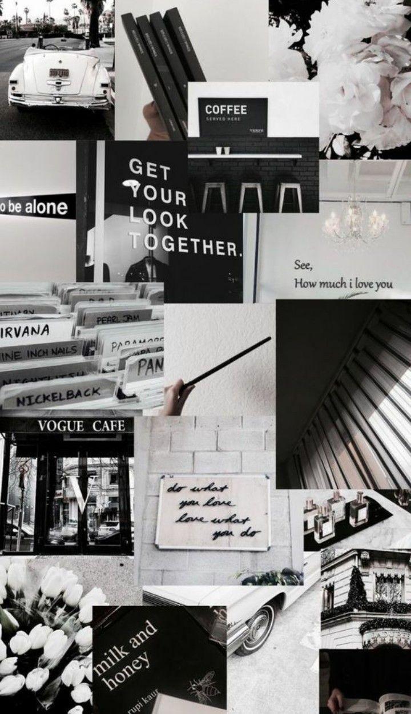 Wallpaper Aesthetic Black And White Di 2020 Dinding Gambar Terapi Seni Gambar Dinding