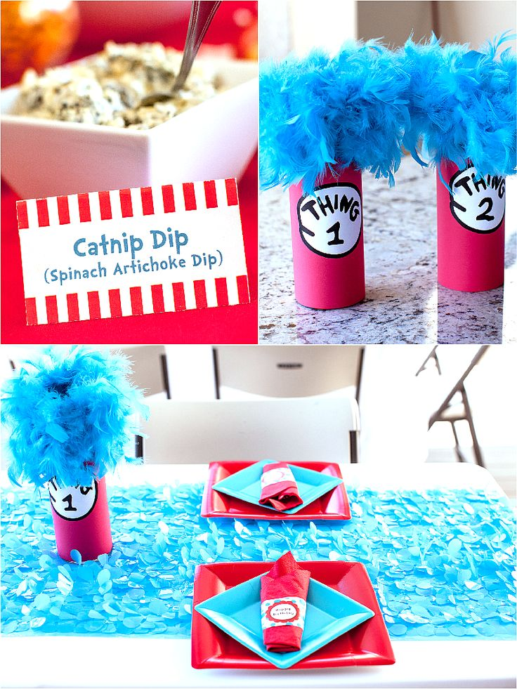 Cat In The Hat Inspired 3rd Birthday Party Birthday Party Printables 3rd Birthday Parties Diy Birthday Party