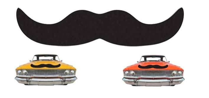 Jumbo Magnetic 25-Inch Movember Moustache - Tax Included for only $15!