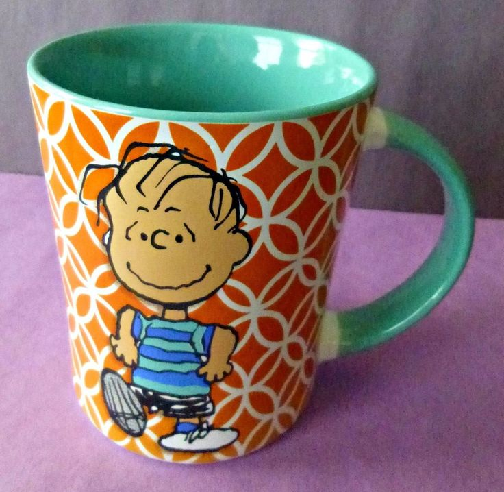 Gibson Overseas Charlie Brown Linus Peanuts Coffee Tea Cup Mug By Schulz