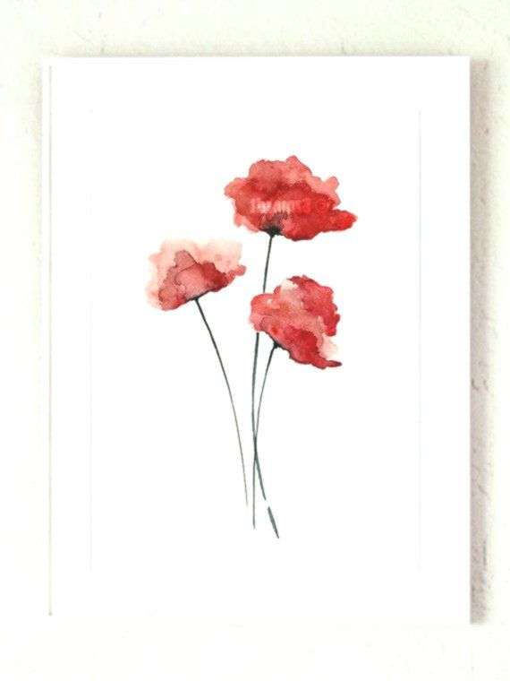 Rote Mohnblume Aquarell Geschenke Zum Besten Von Sie Aquarell Wohnkultur Fluor Blumenaquarell Desenho