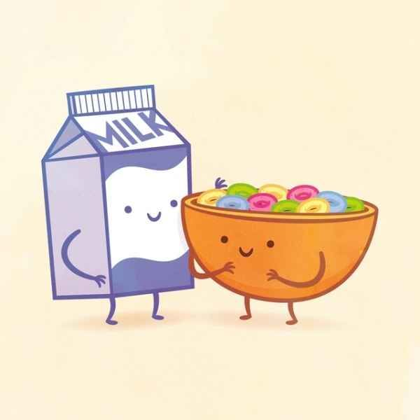 Would it be cereal and milk?