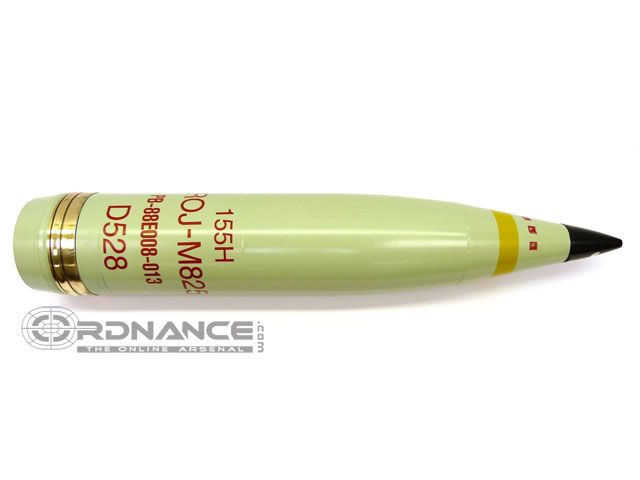 inert 155mm M825 WP smoke projectile shell round : Large ...