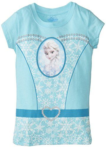 Frozen Little Girls Elsa Girls Cap Sleeve Tee Cancun 5/6 @ niftywarehouse.com #NiftyWarehouse #Disney #DisneyMovies #Animated #Film #DisneyFilms #DisneyCartoons #Kids #Cartoons