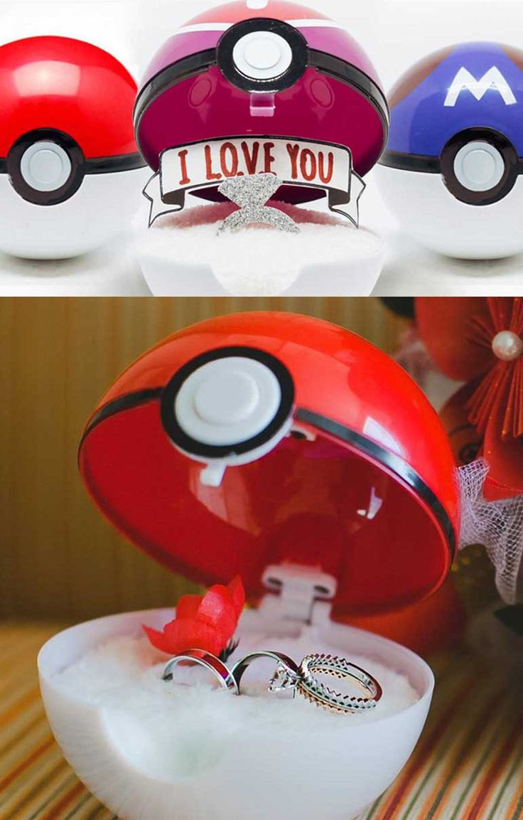 Pokeball Engagement Ring Box #pokemon #pokemongo #pokeball #kawaii #anime…