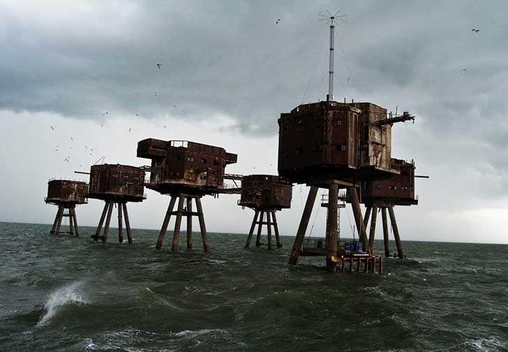 Los Fuertes del mar Maunsell en Inglaterra