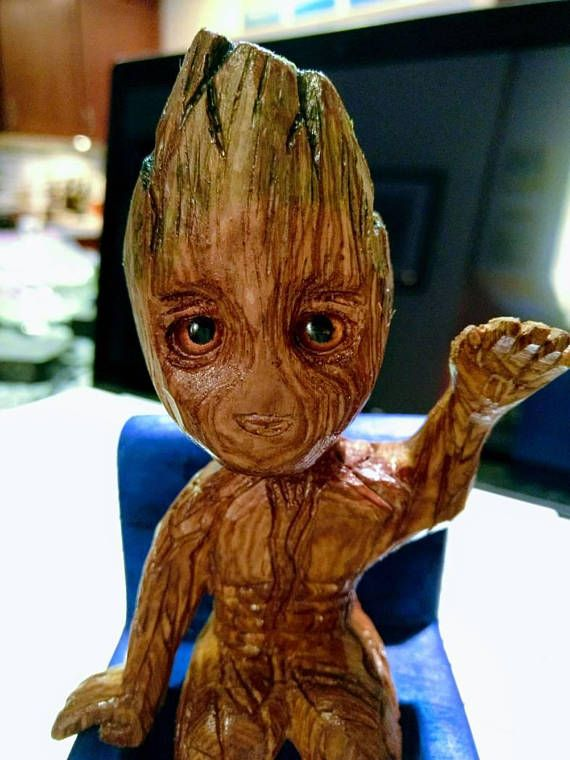 19436efe3a2fa Baby Groot | Wood carving | Baby groot, Baby, Wood carving