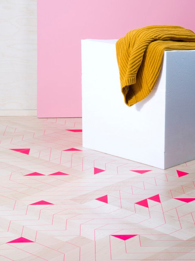 Cute Little Pink Mosaic Flooring Patterns