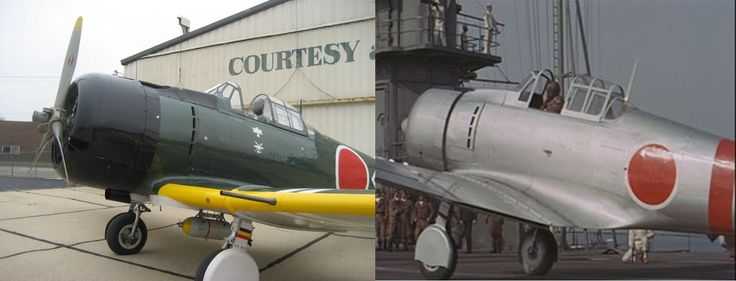 "Japanese ""Zero"" Replica N7757, one of the modified North American T-6 Texans used as a Japanese fighter substitutes in 'Tora! Tora! Tora!' movie"