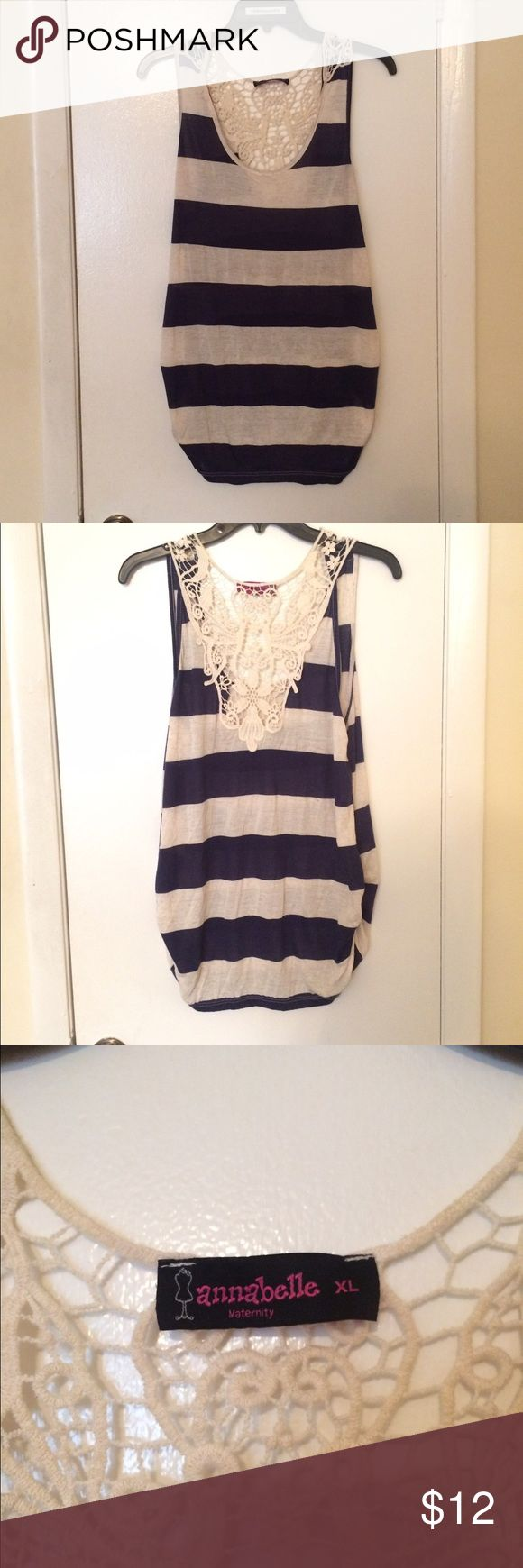 Women's Maternity Top A Navy Blue and White Striped Women's Maternity Top. Is brand new (NWOT). Is a size XL. Price is negotiable so make me an offer!👍🏻 Thank You.☺️ ❌No Trades❌ Tops