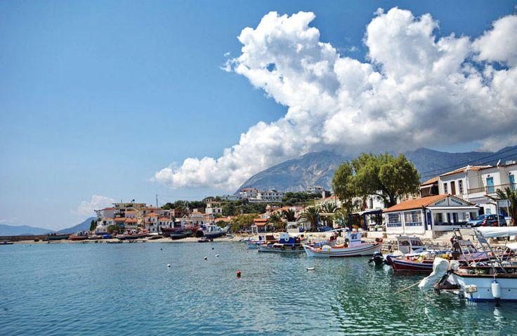 Marathokampos is a charming fishing village nestled on the slopes of Mount Kerkis on the northeastern part of Samos Island, 55km from Samos Town. The area of Ormos and Votsalakia are the most popular places in Marathokampos, with sandy/pebble beaches, small bars and taverns. #samos #marathokampos #samos_island #greece