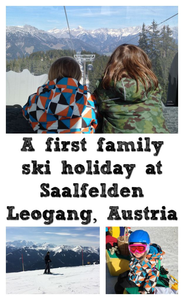 We went on a family ski holiday to Saalfelden Leogang, in the Austrian Alps. We stayed at Hotel Puradies. The children spent two mornings learning to ski at Leo's Kinderland, while D and I went up to the Skicircus Saalbach Hinterglemm Leogang Fieberbrunn, one of the largest ski areas in Austria.