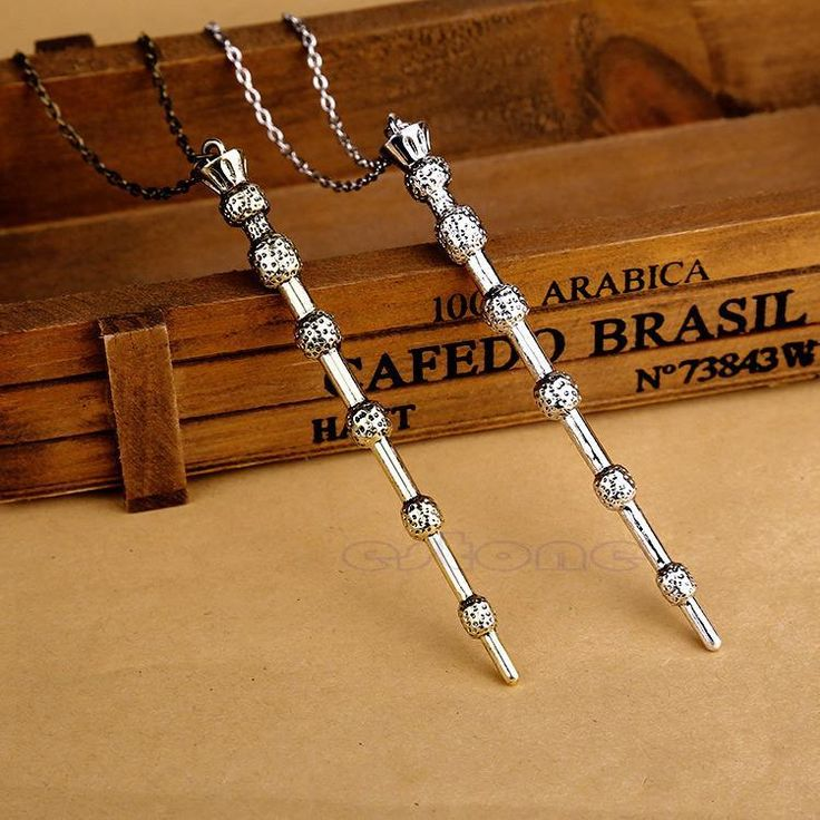 Deathly Hallows Hogwarts Harry Potter Magic Wand Wizard Necklace Sweater Chain