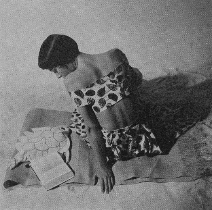 Elsa Schiaparelli reading, Vogue Paris, June 1949. Courtesy of The Met Museum of Art. Photograph by Rutledge Rutledge.