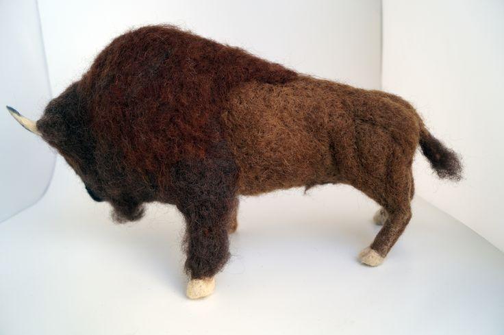 Needlefelted Bison