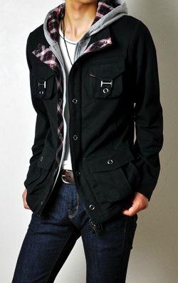 Arona men's layered military jacket