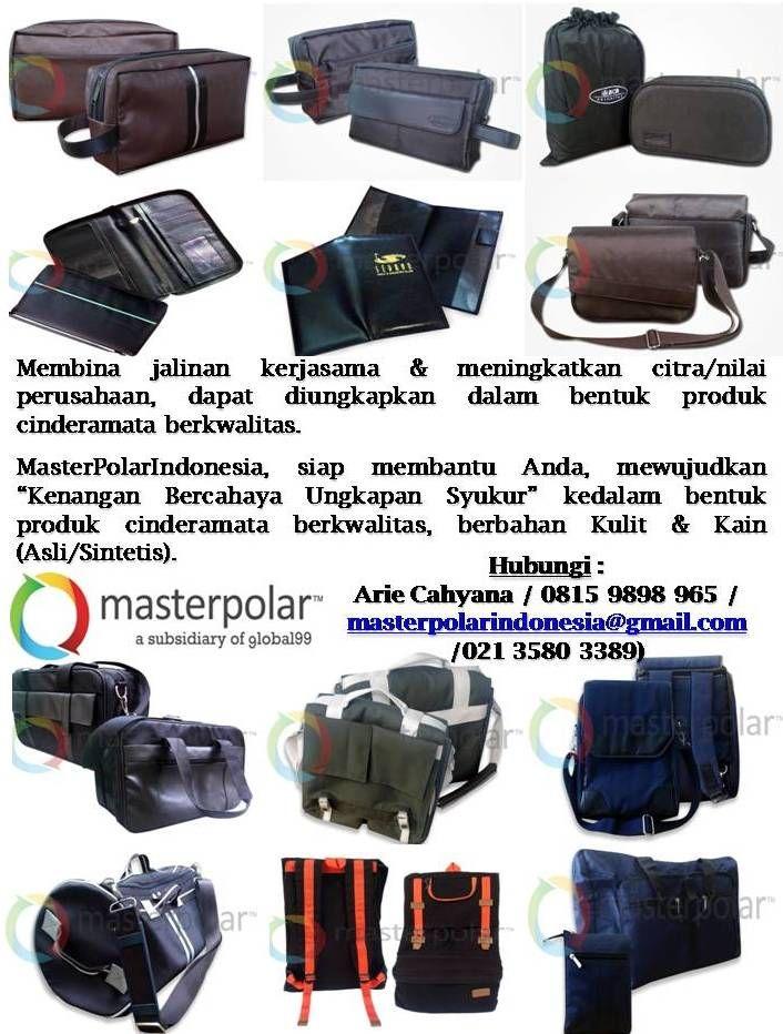 "Membina jalinan kerjasama & meningkatkan citra/nilai perusahaan, dapat diungkapkan dalam bentuk produk cinderamata berkwalitas.   MasterPolarIndonesia, siap membantu Anda, mewujudkan ""Kenangan Bercahaya Ungkapan Syukur"" kedalam bentuk produk cinderamata berkwalitas, berbahan Kulit & Kain (Asli/Sintetis).    Hubungi :  Arie Cahyana / 0815 9898 965 / masterpolarindonesia@gmail.com /021 3580 3389)"