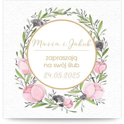 Zaproszenie ślubne - szablon MZS133