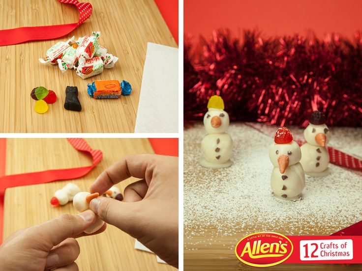 Have a white Christmas afternoon making these fun ALLEN'S MINTIES Snowmen with your family!
