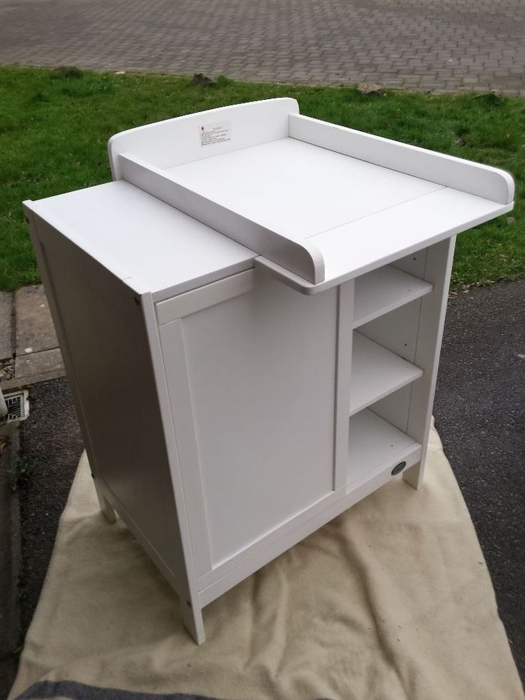 Ladybird Daisy Dresser and baby changing unit (white wood)