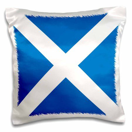 3dRose Flag of Scotland - Scottish blue with white Saint Andrews Cross Saltire - Scots UK United Kingdom, Pillow Case, 16 by 16-inch