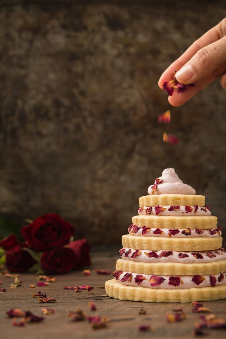 Sugar Cookie Love Trees with Strawberry Rose Frosting