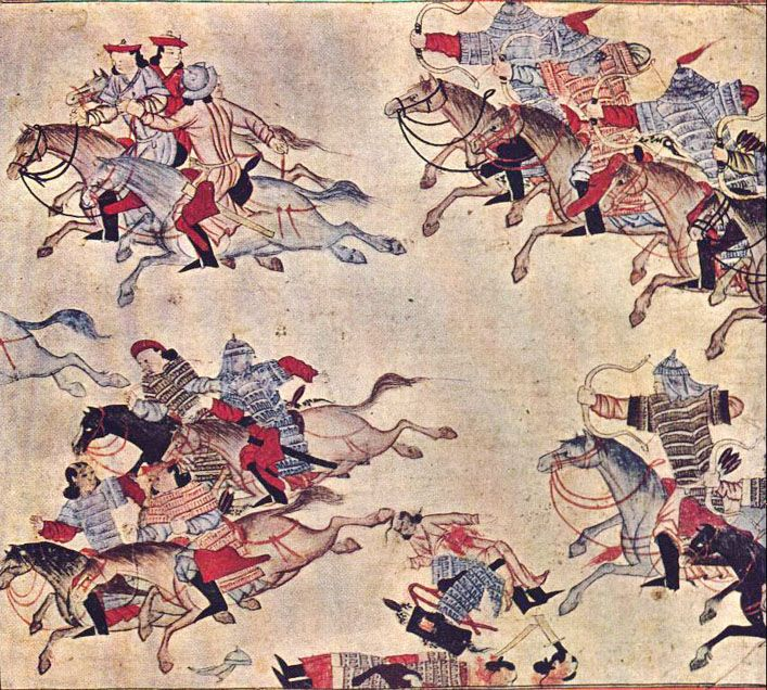 Early 1300's Battle Scene