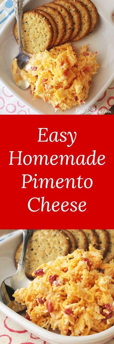 Easy Homemade Pimento Cheese | RoseBakes.com