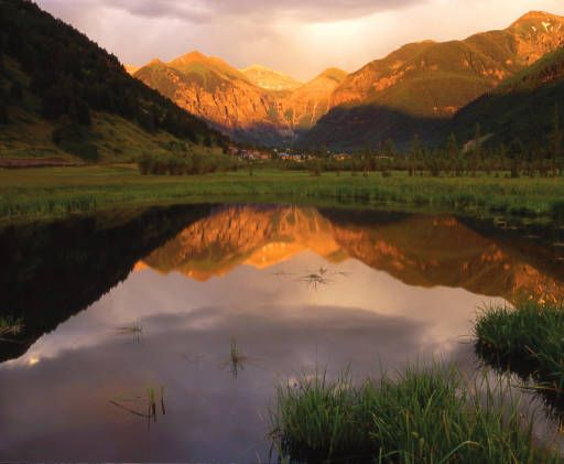 The floor of the valley near Telluride. John Richter/Special to the Rocky :: Rocky Mountain News
