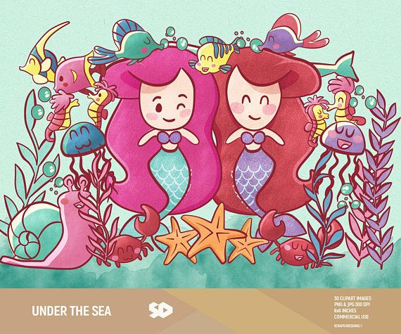 Under the sea clipart set! These illustrations are just what you needed for the perfect event and invitation creations, scrapbooking and much more. This is a set of 30 detailed underwater themed clipart images in high resolution (300 dpi). You will receive: - Each clipart saved