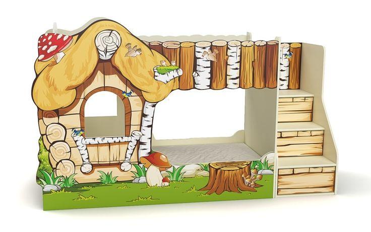 www.NewShopping.ru - Кровать-дом, детская кроватка-домик, замок с горкой для девочки и мальчика