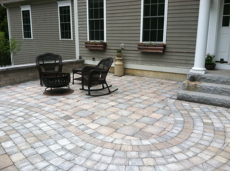 Paver Patio   (Should I Put Some Facing On The Small Part Of The Foundation