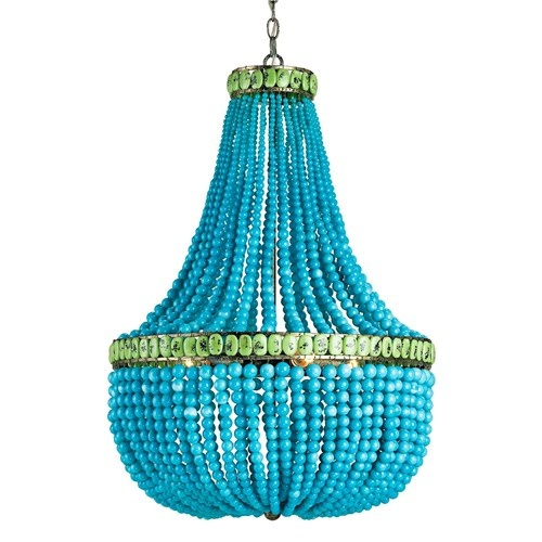 AdoreDecor, Lights, Hedi Chandeliers, Beads Chandeliers, Dining Room, Beach House, Turquoise, Company, Currey