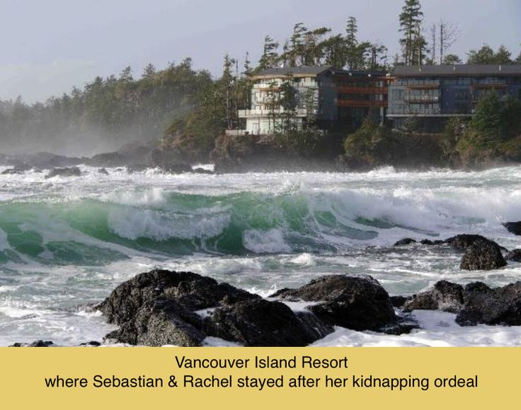a closer view of the resort and the wild weather conditions.