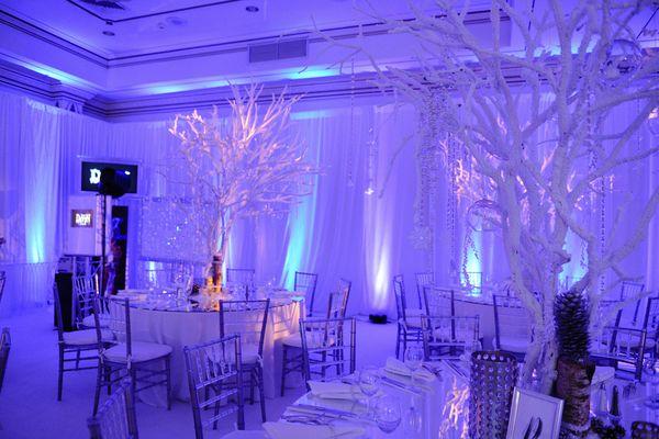 Fire & Ice Bat MItzvah - Tree Centerpieces, Lasting
