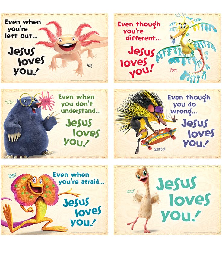 Bible Point Posters (set of 6) - Weird Animals VBS 14 ...