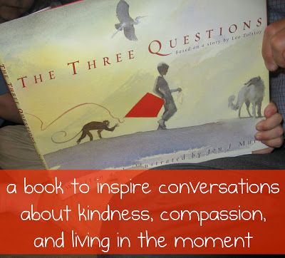 """""""Pennies of Time"""" Adventures.  """"The Three Questions"""" is a great book to start talking about compassion, kindness, and living in the moment.  I used this book to help talk with my boys about having the confidence to help in the moment that they recognize a need.  Teach children to serve."""