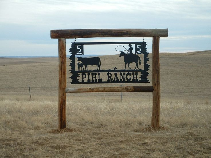 PAINTED STEEL PIHL RANCH SIGN