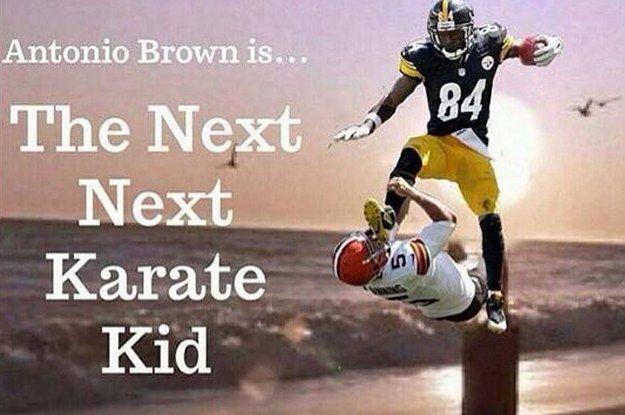 Antonio Brown Kicks Punter Karate Kid
