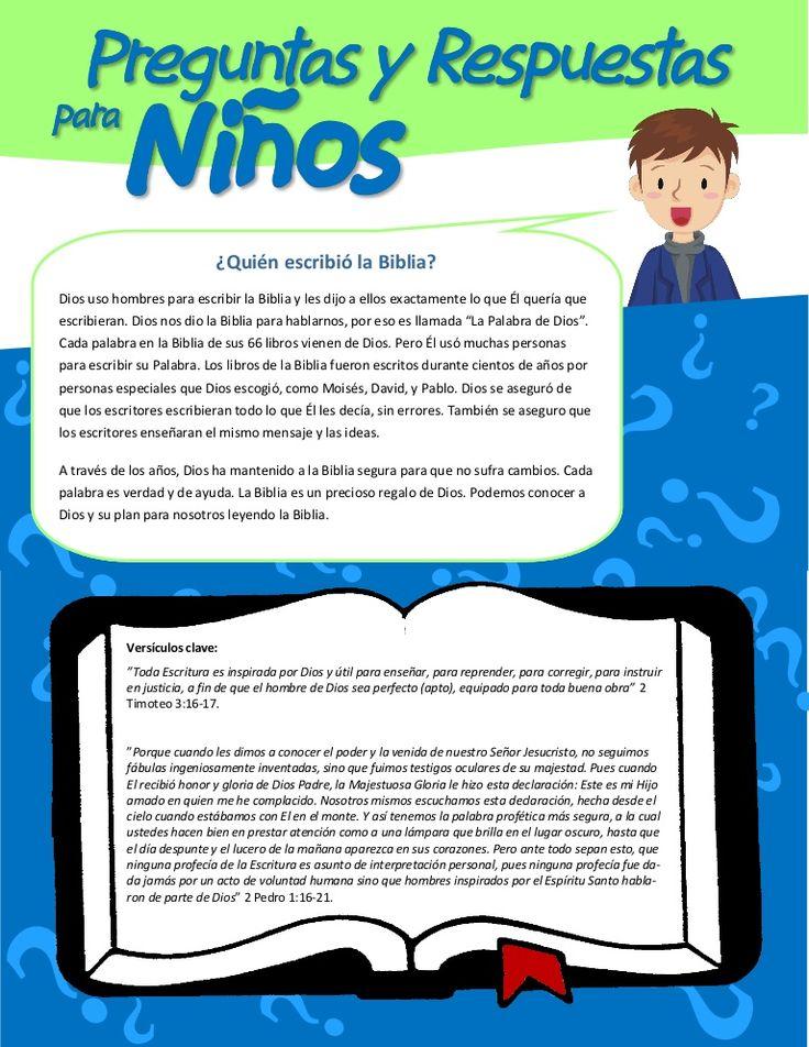 1 quien-escribio-la-biblia by Ministerio Infantil Arcoiris via slideshare