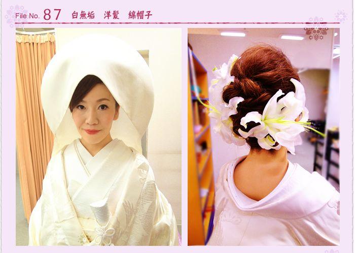 白無垢 洋髪 綿帽子